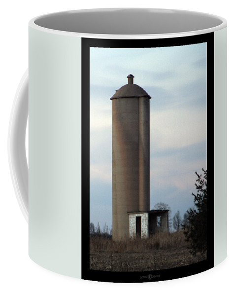 Silo Coffee Mug featuring the photograph Solo Silo by Tim Nyberg
