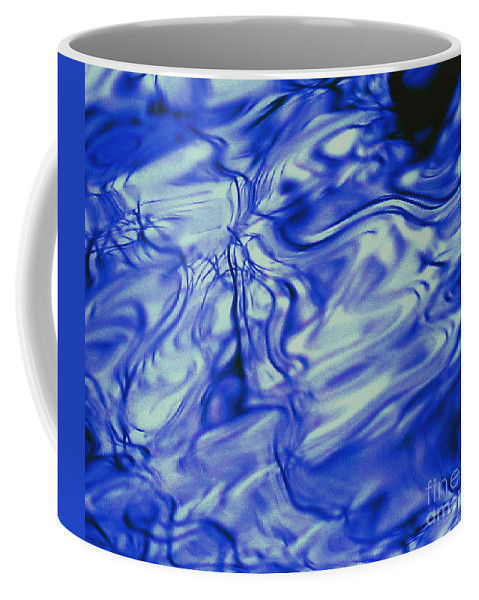 Water Coffee Mug featuring the photograph Solvent Blue by Sybil Staples
