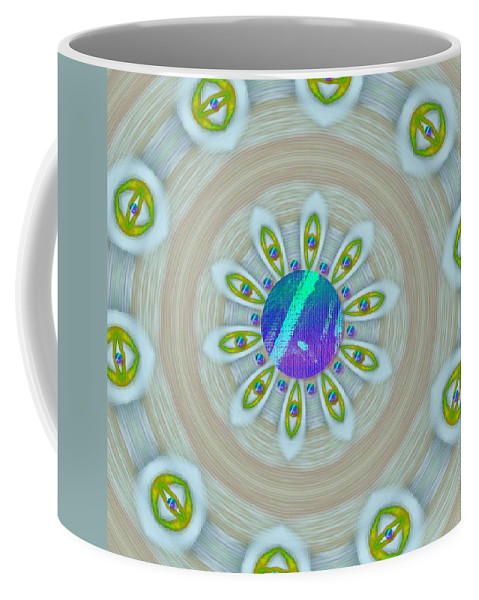 Canvas Coffee Mug featuring the mixed media Some Colors On Your Wall by Pepita Selles