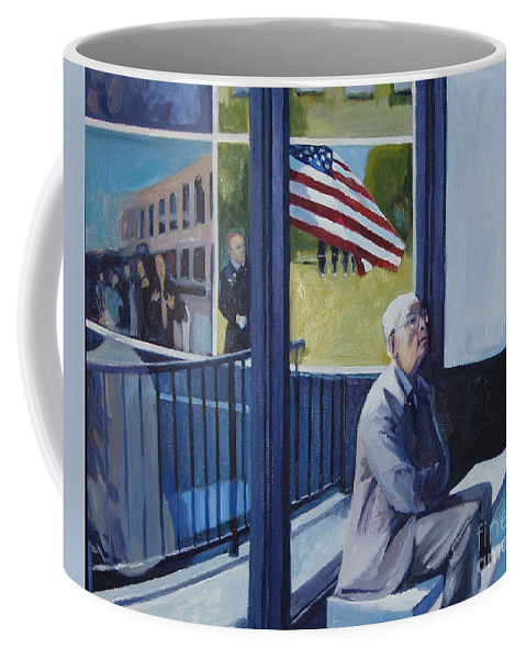 Flag Coffee Mug featuring the painting Some Gave All by Deb Putnam