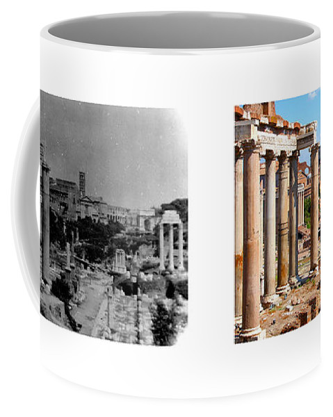 Rome Coffee Mug featuring the photograph Some Things Don't Change - A Photo I Took In 1972 Vs One I Took In 2007 by Thomas Marchessault