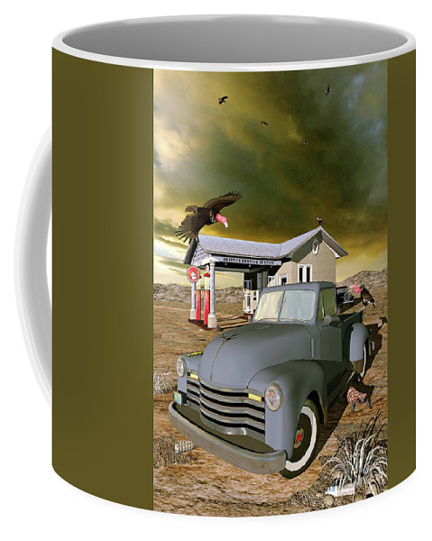 Oil Coffee Mug featuring the digital art Some Things Just Refuse To Die by Peter J Sucy