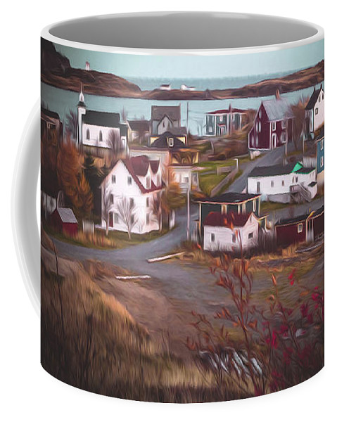 Town Coffee Mug featuring the digital art Some Town by Shelley Evans