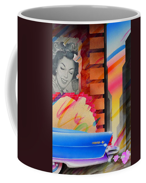 Collage Coffee Mug featuring the painting Someone You Love by Charles Stuart