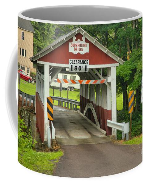 Burkholder Covered Bridge Coffee Mug featuring the photograph Somerset Burholder Covered Bridge by Adam Jewell