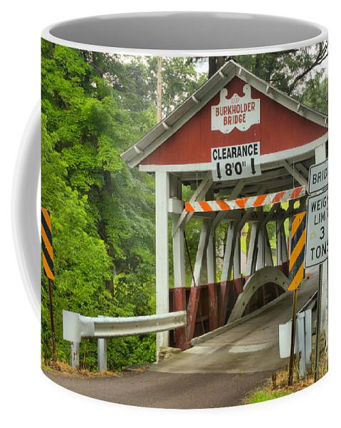 Burkholder Covered Bridge Coffee Mug featuring the photograph Somerset County Burkholder Covered Bridge by Adam Jewell