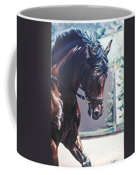 Horse Coffee Mug featuring the painting Somerset by Suzanne Leonard