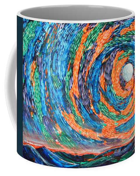 Skyscape Coffee Mug featuring the painting Something Always Happens by Rollin Kocsis