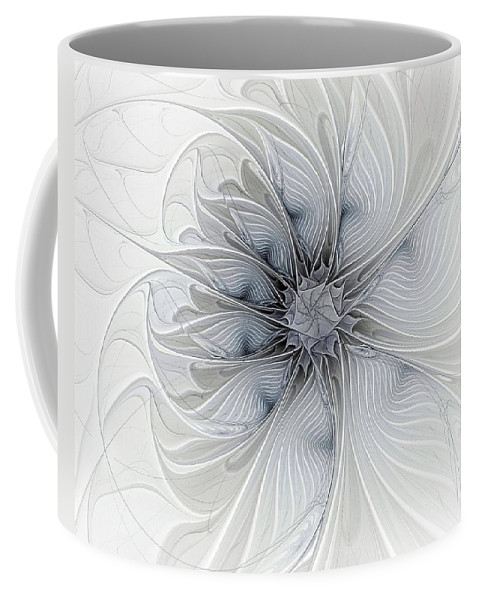 Digital Art Coffee Mug featuring the digital art Something Blue by Amanda Moore