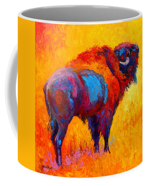 Wildlife Coffee Mug featuring the painting Something In The Air by Marion Rose