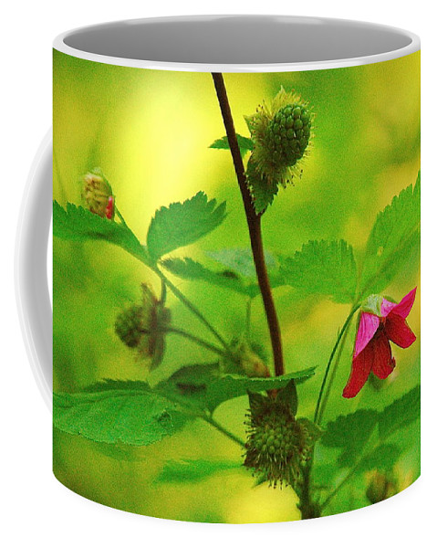 Flower Coffee Mug featuring the photograph Something Red by Mark Lemon