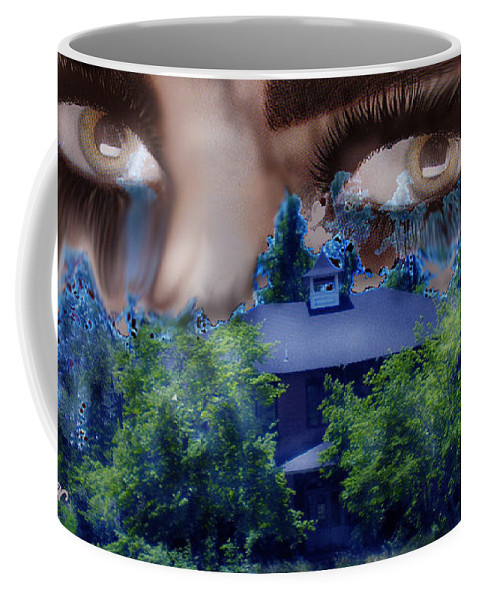 Strange House Coffee Mug featuring the digital art Something To Watch Over Me by Seth Weaver