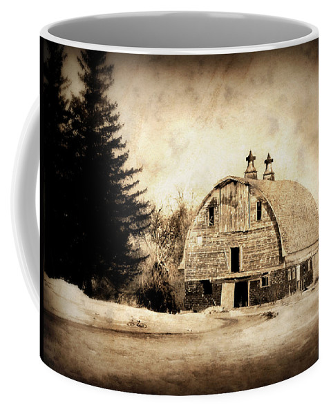 Barn Coffee Mug featuring the photograph Somethings Missing by Julie Hamilton