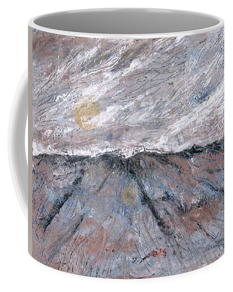 Mountains Coffee Mug featuring the painting Somewhere Higher by Rollin Kocsis