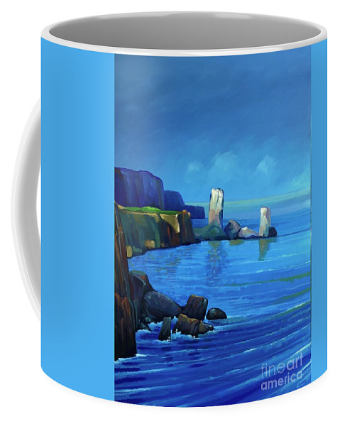 Seaside Coffee Mug featuring the painting Somewhere Only We Know by Hunter Jay