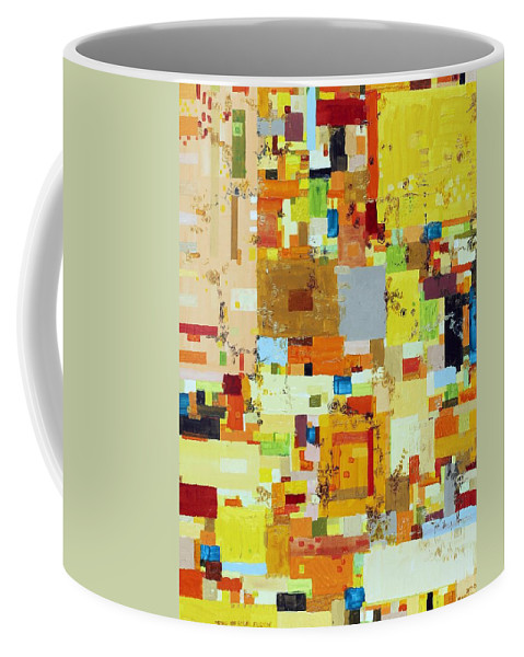 Abstract Coffee Mug featuring the painting Song Of Solar Fusion by Regina Valluzzi