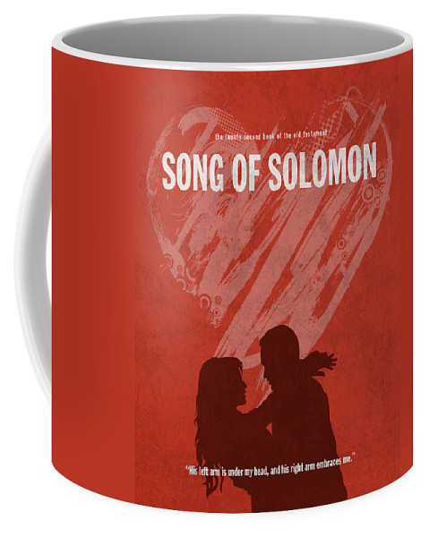 Song Of Solomon Coffee Mug featuring the mixed media Song Of Solomon Books Of The Bible Series Old Testament Minimal Poster Art Number 22 by Design Turnpike