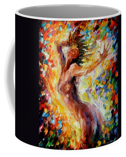 Afremov Coffee Mug featuring the painting Songs Of Love by Leonid Afremov