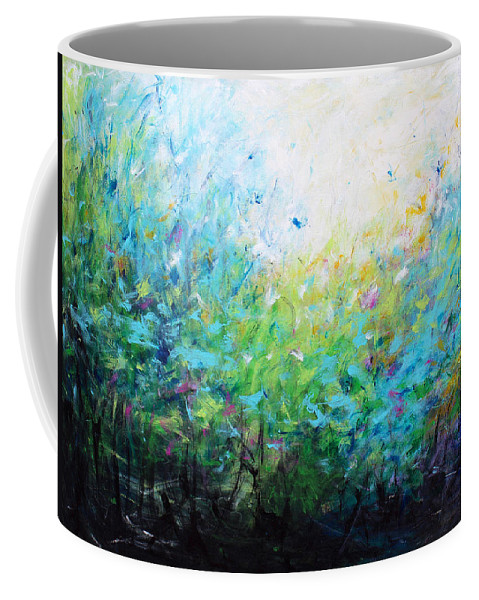 Songs Of Spring Coffee Mug featuring the painting Songs Of Spring by Kume Bryant