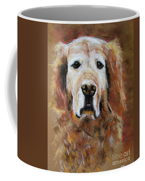 Golden Coffee Mug featuring the painting Sonny by Frances Marino