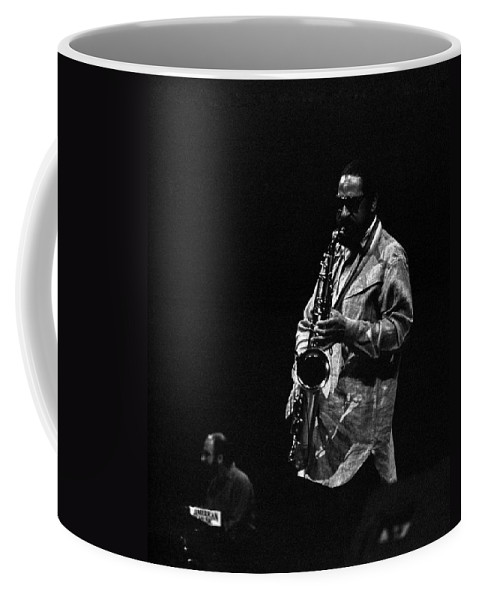 Jazz Coffee Mug featuring the photograph Sonny Rollins by Lee Santa