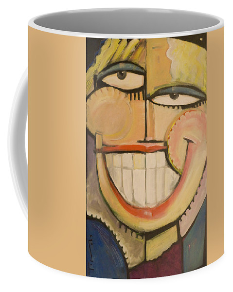 Sunny Coffee Mug featuring the painting Sonny Sunny by Tim Nyberg