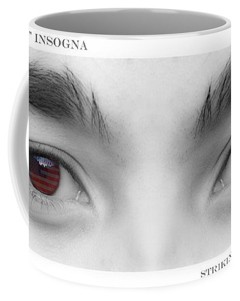 Eyes Coffee Mug featuring the photograph Son's Eyes by James BO Insogna