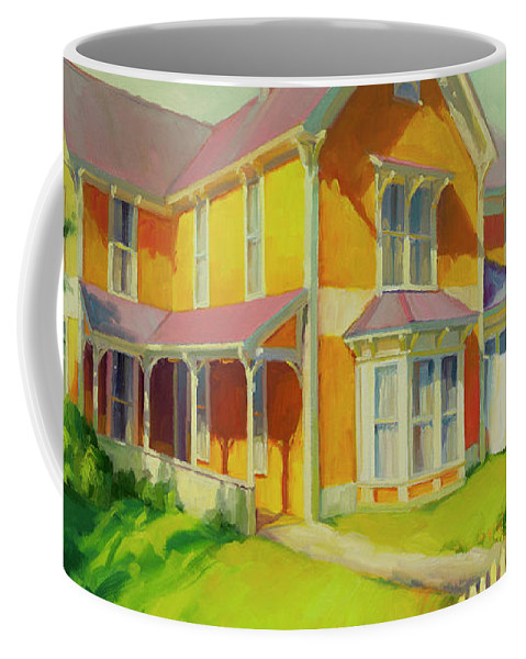Coast Coffee Mug featuring the painting Sophie And Rose by Steve Henderson