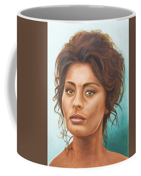 Moviestar Coffee Mug featuring the painting Sophia Loren by Rob De Vries