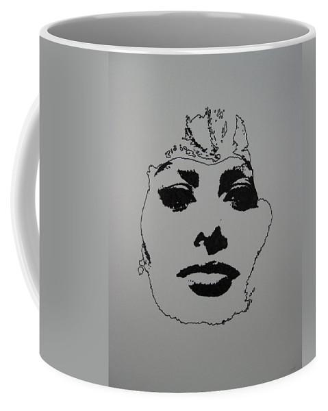 Sophia Coffee Mug featuring the drawing Sophia by Lynet McDonald