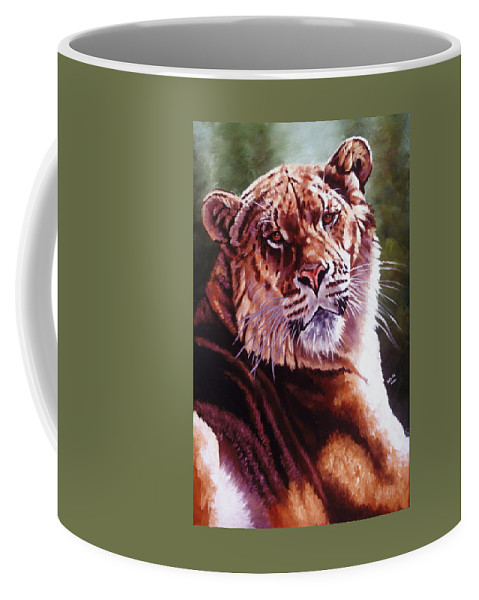 Hybrid Coffee Mug featuring the painting Sophie The Liger by Barbara Keith