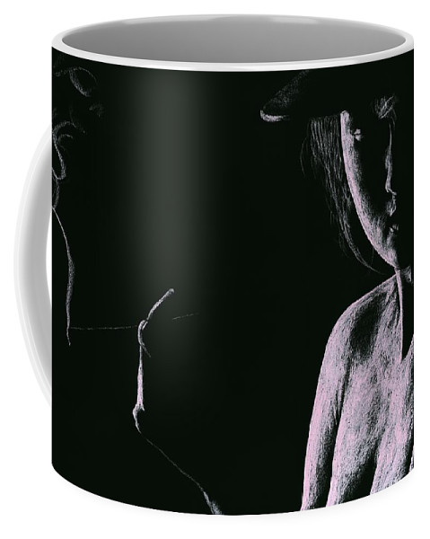 Face Coffee Mug featuring the pastel Sophisticate by Richard Young