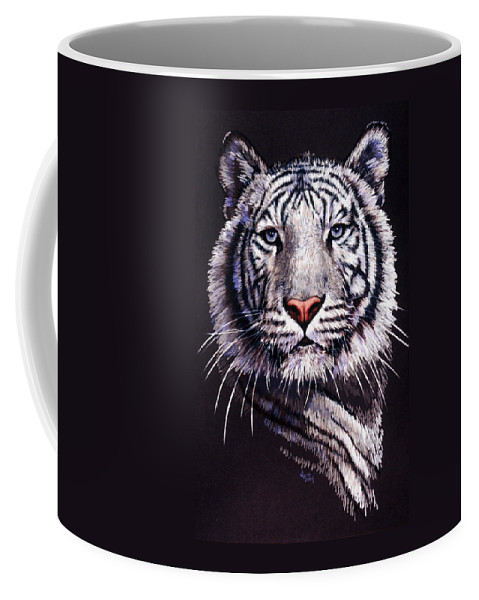 Tiger Coffee Mug featuring the drawing Sorcerer by Barbara Keith