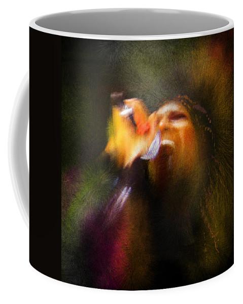 Music Coffee Mug featuring the painting Soul Scream by Miki De Goodaboom
