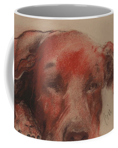 Pastel Coffee Mug featuring the drawing Soul Searcher by Cori Solomon