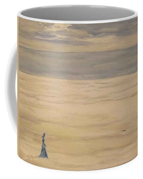 Landscape Coffee Mug featuring the painting Soul Searching by Denise Morgan