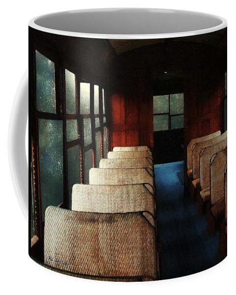 Train Coffee Mug featuring the painting Soul Train by RC DeWinter
