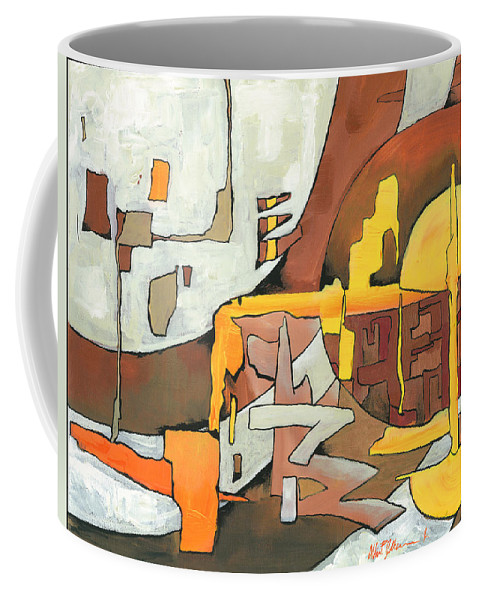 Abstract Coffee Mug featuring the painting Soulscape Fall by Albien Gilkerson