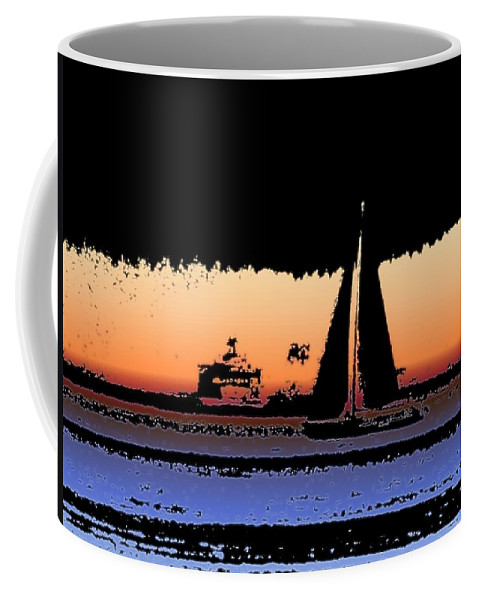 Seattle Coffee Mug featuring the photograph Sound Sailin 2 by Tim Allen