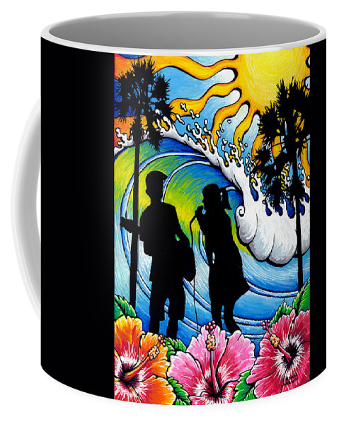 Singer Coffee Mug featuring the painting Sound Waves by Adam Johnson