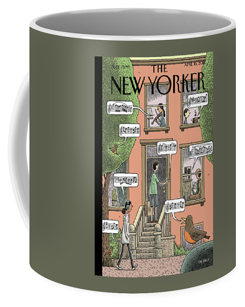 Soundtrack To Spring Coffee Mug featuring the drawing Soundtrack To Spring by Tom Gauld