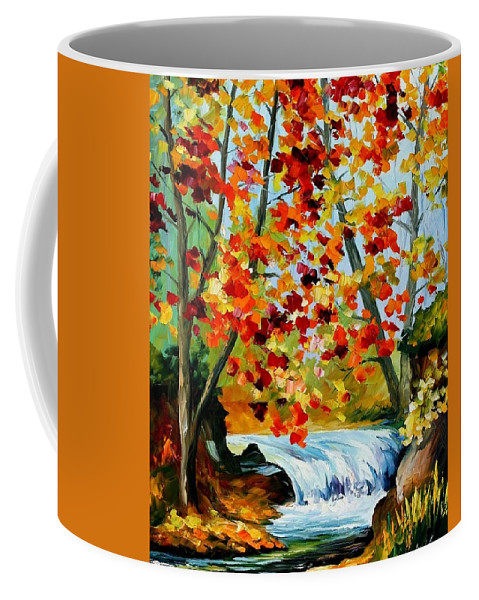 Afremov Coffee Mug featuring the painting Source by Leonid Afremov