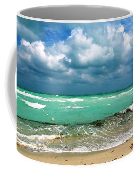 South Beach Storm Clouds Coffee Mug featuring the photograph South Beach Storm Clouds by John Rizzuto