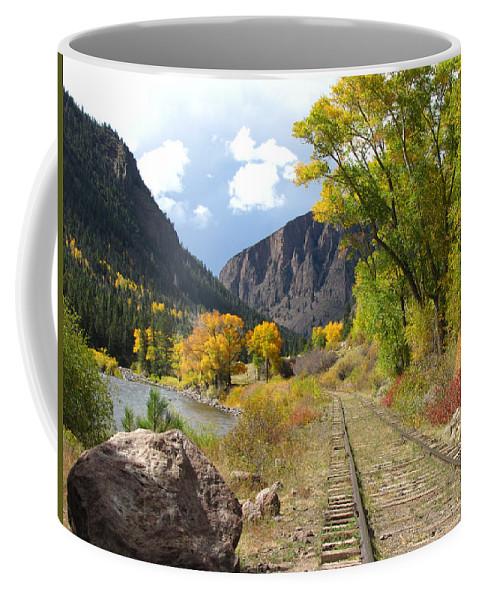 Train Coffee Mug featuring the photograph South Fork by Carol Milisen