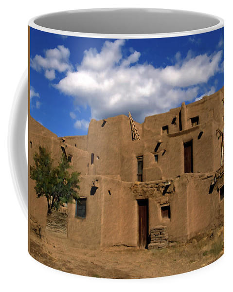 Taos Coffee Mug featuring the photograph South Pueblo Taos by Kurt Van Wagner