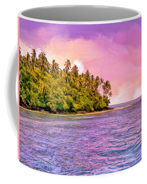 South Seas Coffee Mug featuring the painting South Seas Sunset by Dominic Piperata