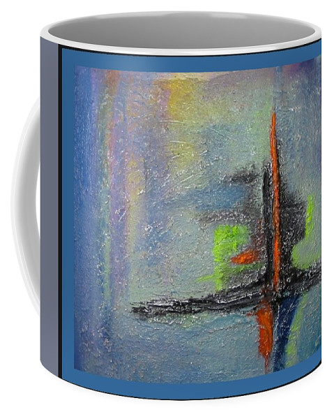 Mixed Media Coffee Mug featuring the mixed media South Star by Dragica Micki Fortuna