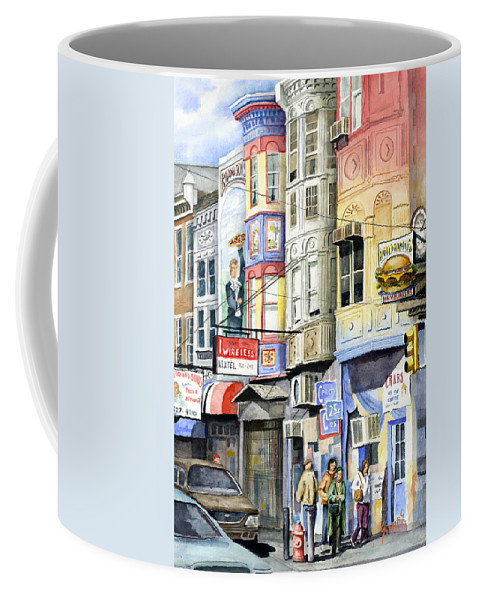Street Coffee Mug featuring the painting South Street by Sam Sidders