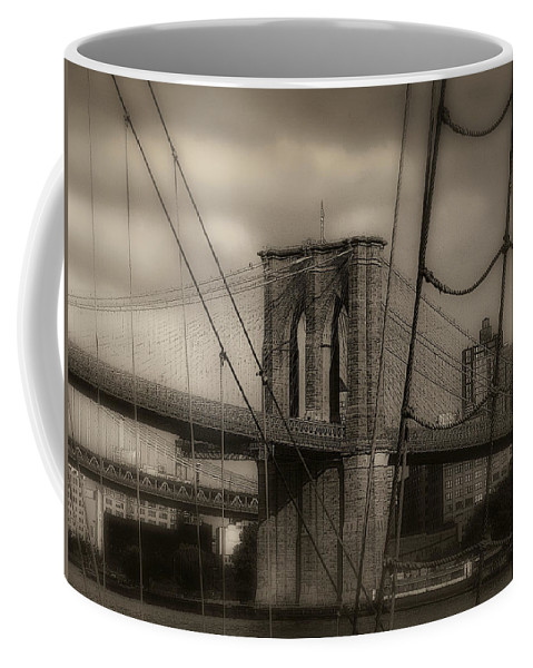 New York Coffee Mug featuring the photograph South Street Seaport by Jeff Watts
