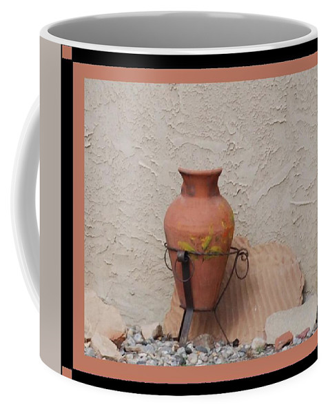 Rocks Coffee Mug featuring the photograph South West Potery by Rob Hans